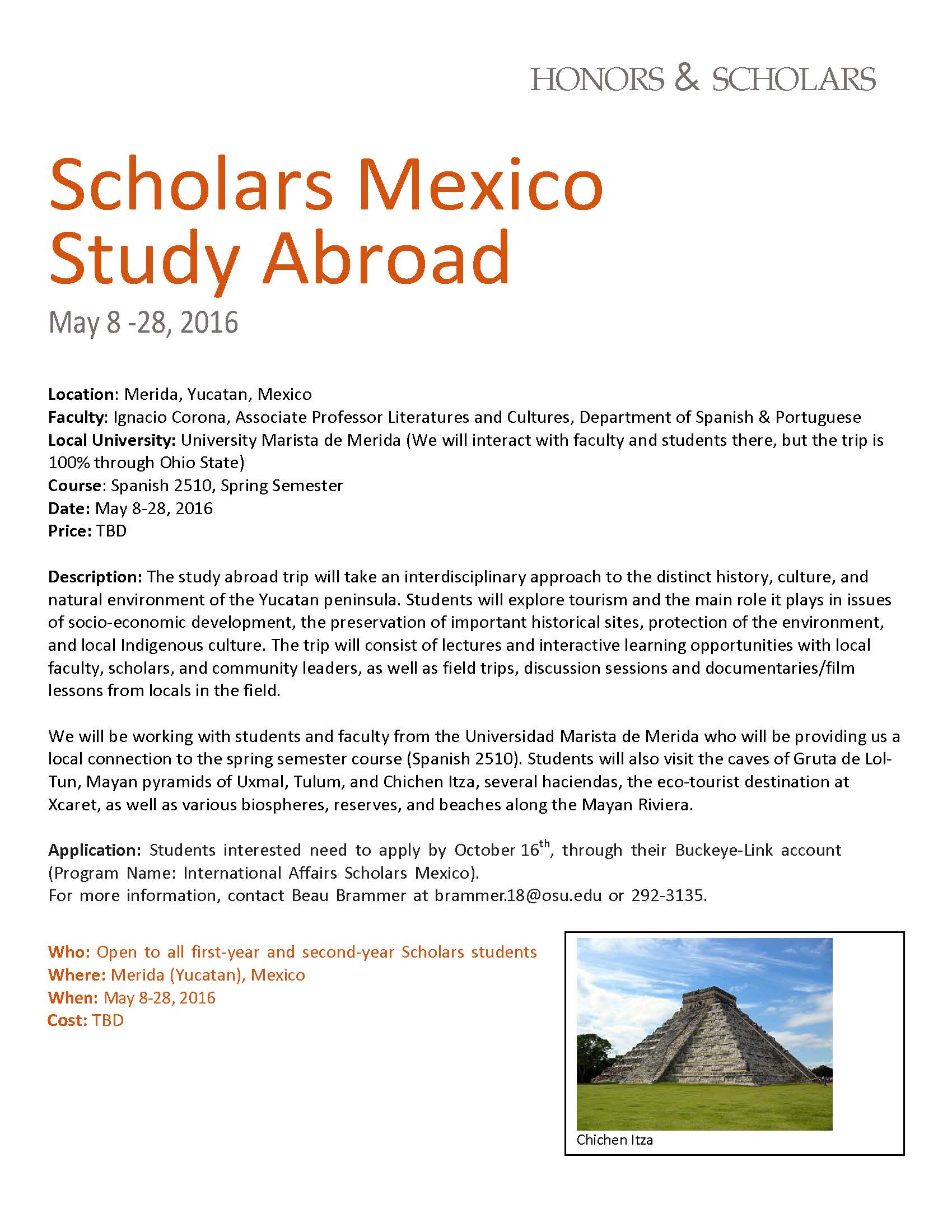 ohio state scholars program essay Information for potential visiting scholars those interested in working at the ohio state university as visiting researchers under visiting scholars program.