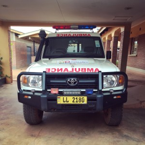transport issues are a commonly reported barrier to facility births (and thus, births with expert assistance). this ambulance is reserved for emergency transfers from CLI to other hospitals.