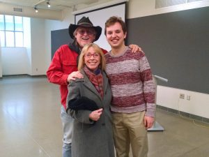 David Morris, Christine Bellengee Morris, American Indian Studies Program Director and Faculty in Arts Admin, Educaiton and Policy, and Matt Schneider